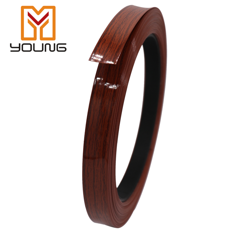 High glossy woodgrain edge banding